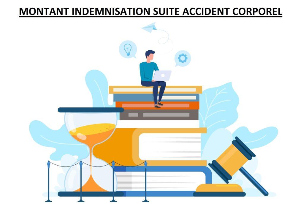 Montant indemnisation suite accident corporel